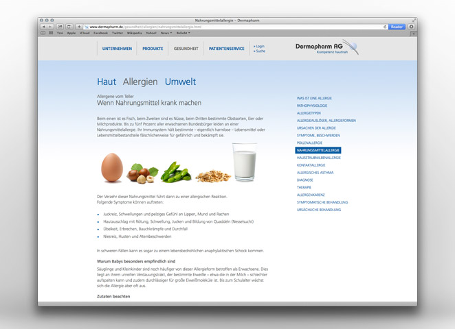 Dermapharm AG Website Editorial Allergien