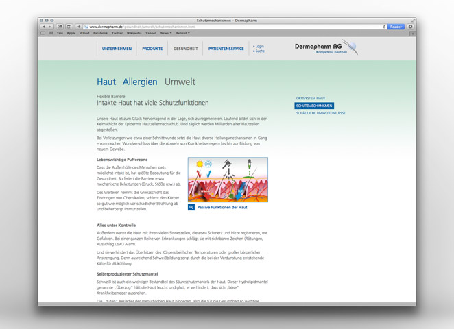Dermapharm AG Website Editorial Umwelt