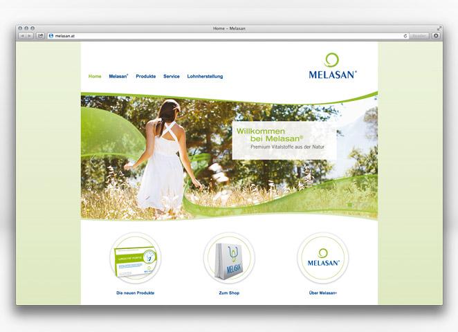 Melasan Website melasan.at